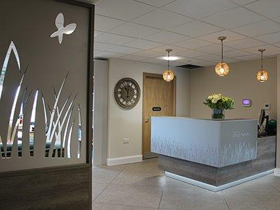 Reception area - Stockmore Lodge electrical contract